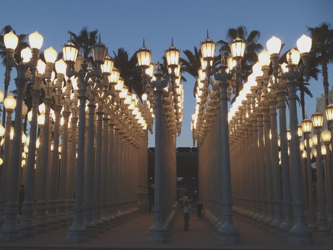Losangeles California Illuminated Lacma Art Museum Architecture Outdoors Large Group Of Objects Travel Beautiful
