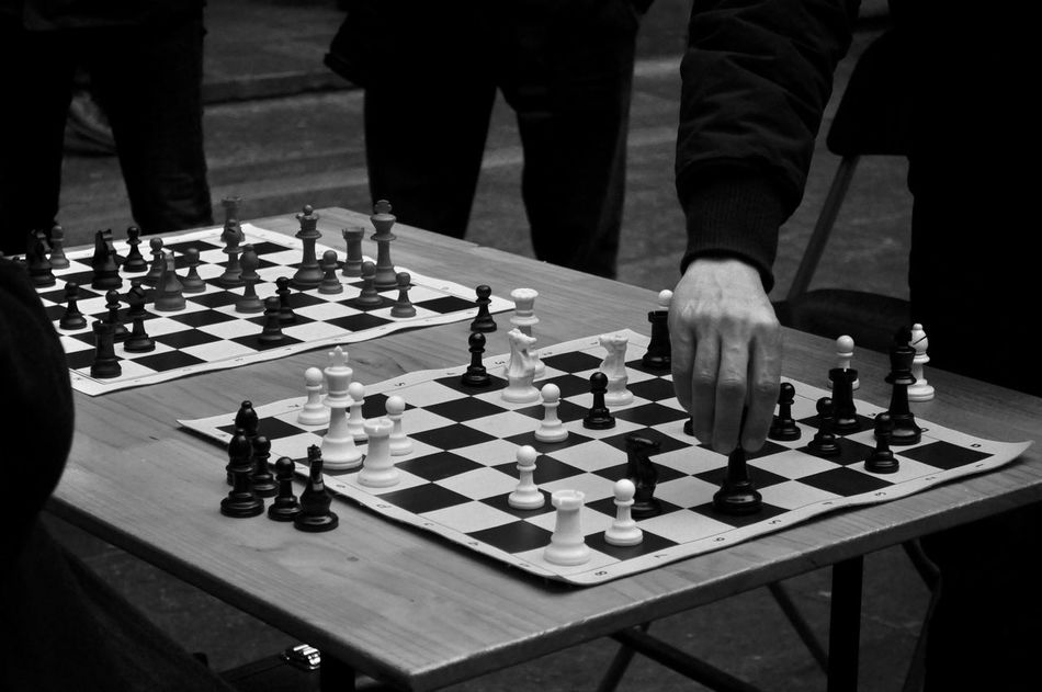 Action Action Photography Board Game Challenge Checked Pattern Chess Chess Board Chess Piece Close-up Competition Day Decisions Friends Game Games Intelligence Leisure Games Make A Move Men Move Old Friends People Playing Strategy Exceptional Photographs