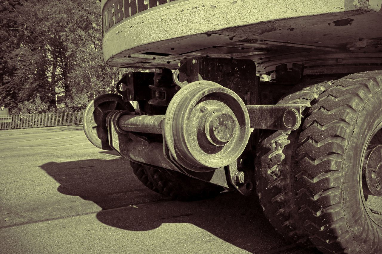 Black & White Blackandwhite Construction Construction Site Development Engineering Excavator HDR Land Vehicle Machine Part Machinery Mode Of Transport Monochrome Railway Construction Sepia Tire Track Construction Vehicle Part Wheel The Architect - 2016 EyeEm Awards