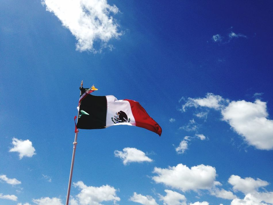 Beautiful stock photos of mexican flag, Cloud - Sky, Cloudy, Day, Flag