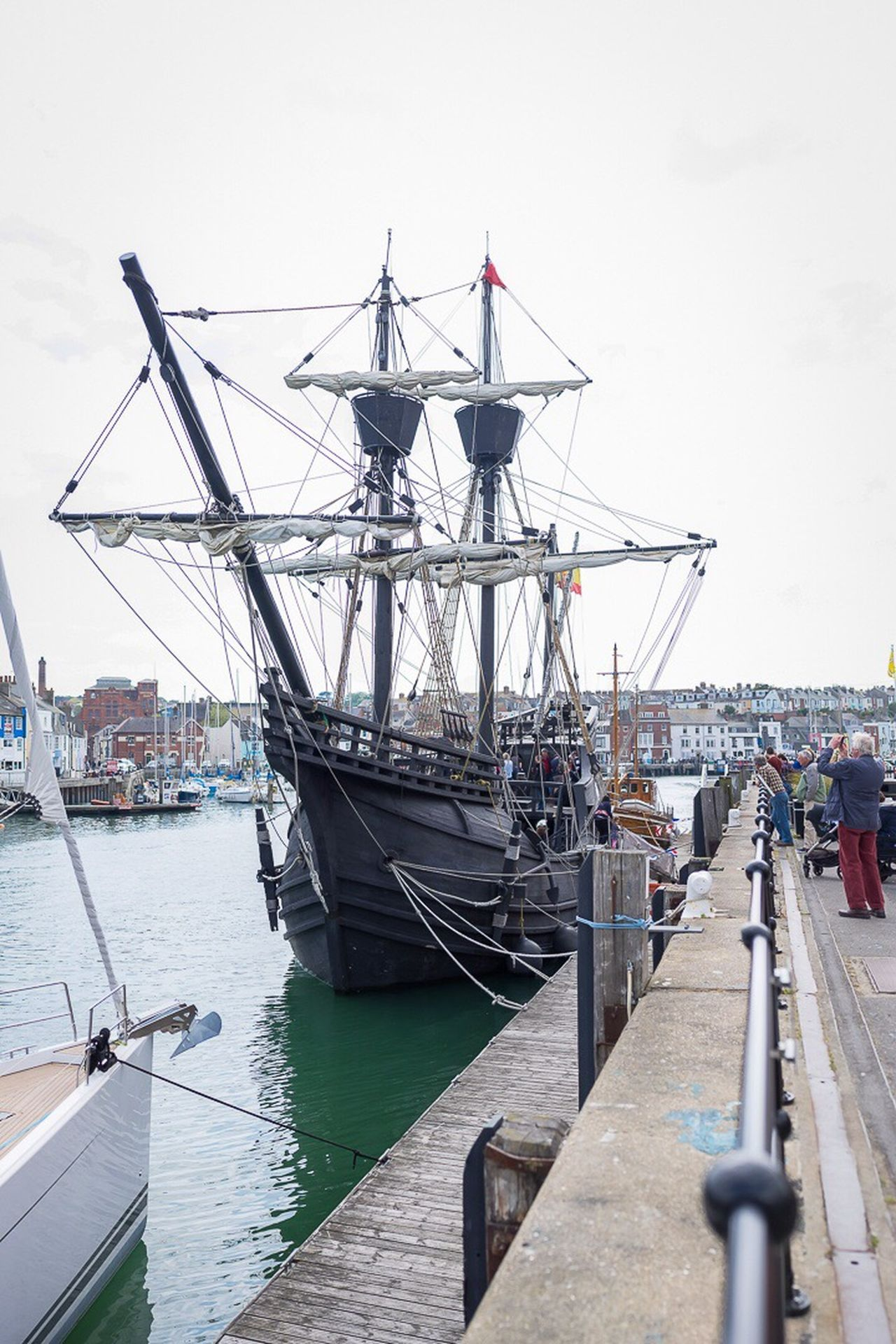 Naovictoria recent visit to Weymouth Harbour Sailing Ship Weymouth Dorset Harbour Sailing Vessel