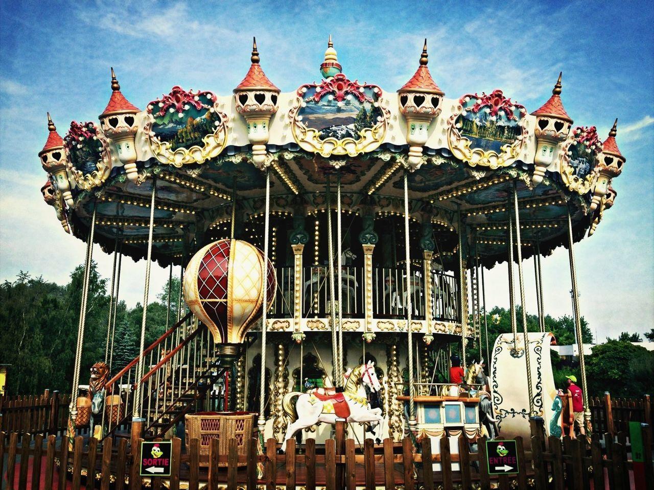 Taking Photos Colors Park Carroussel