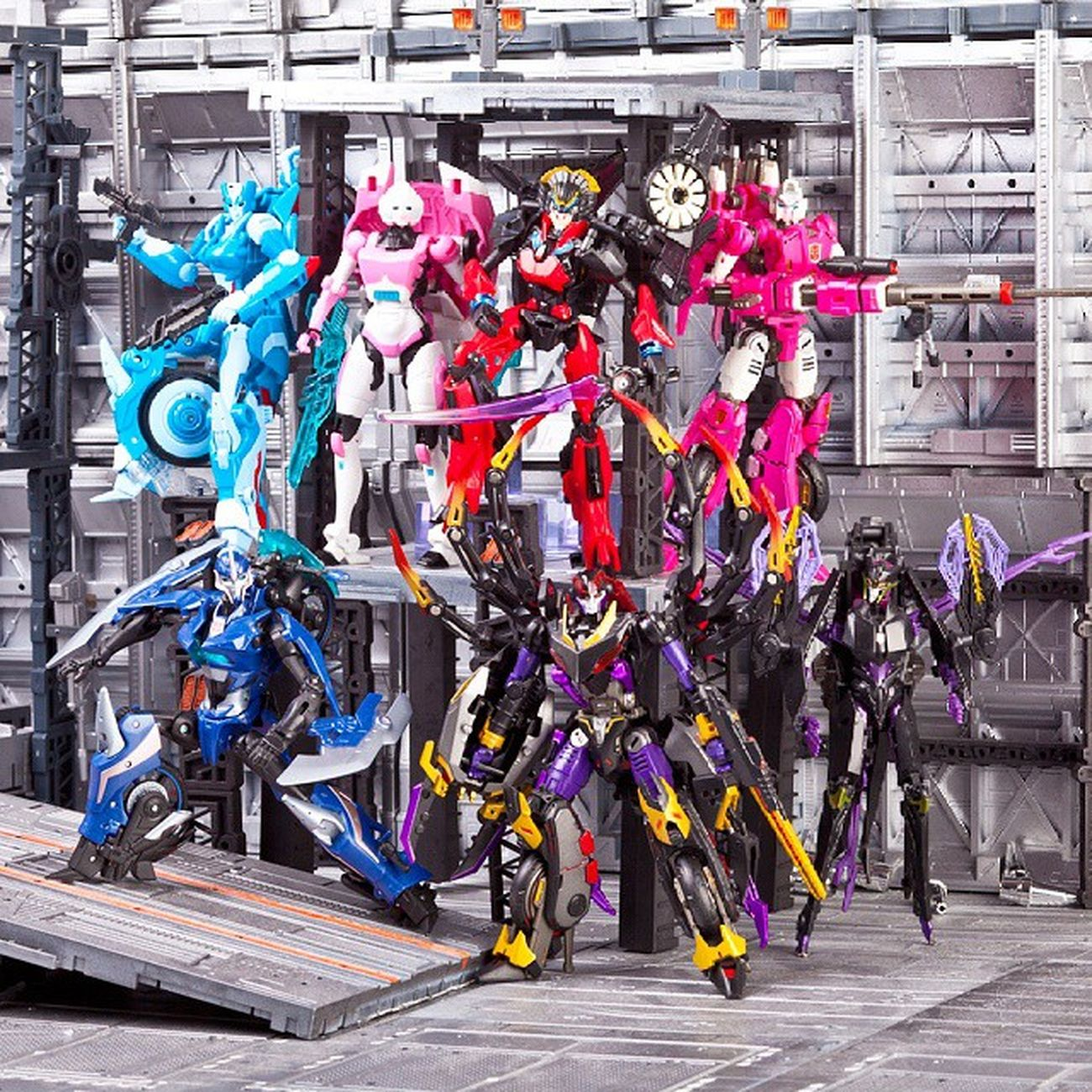 Women's team: Aranea & Arcee PerfectEffect, Airachnid & Arcee Prime, Chromia, Arcee & Windblade Women Womensteam Femobot Aranea Airachnid Arcee Chromia Windblade