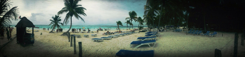 Algo de Tulum en Playa del Carmen. Enjoying The Sun Clouds Beachphotography Boyfriend