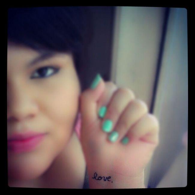 Suicideawarenessday Love Wrist Script turquoisenails pinklips