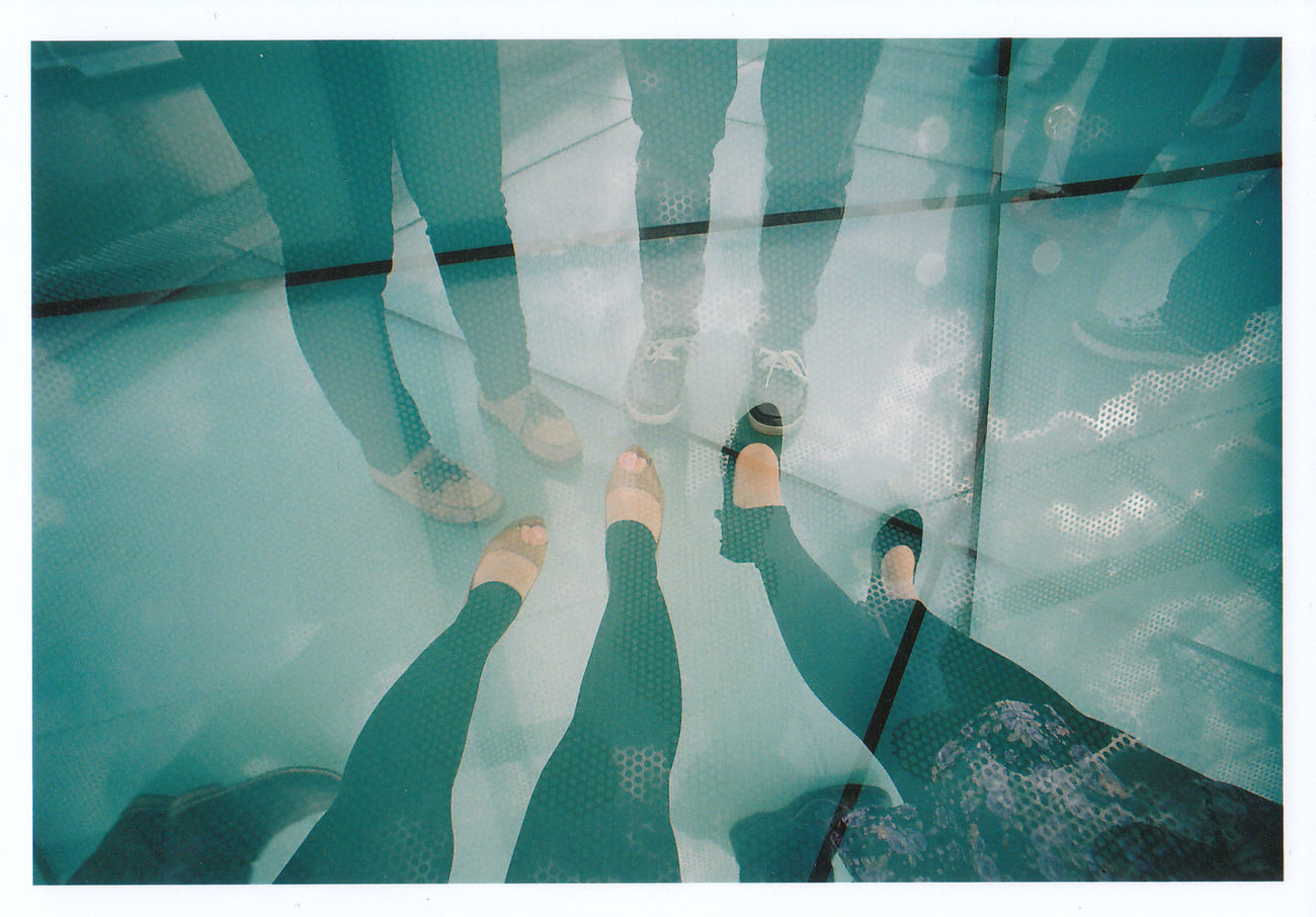 Low Section Real People People Human Body Part Shoes Sky Blue Blue Color Day Outdoors Cloud - Sky Multiple Exposures Multiple Layers Double Exposure Wide-angle Lens Film 35mm Film Film Photography Lomography Lomo LC-Wide LC-Wide Nagoya Japan EyeEmNewHere