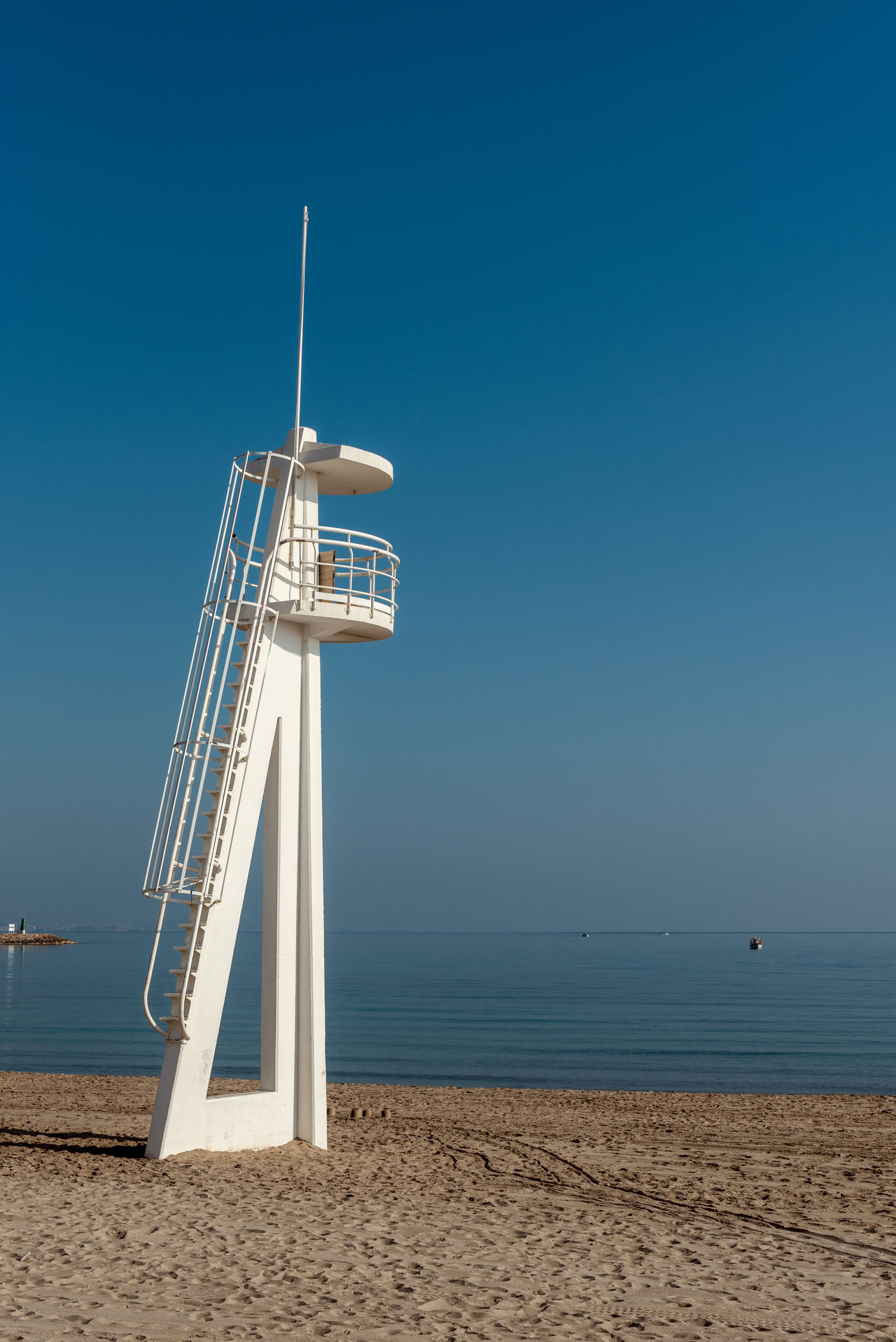 Lifeguard tower on the beach. El Campello, Alicante. Spain Alicante, Spain Beach Coast Coastline Costa Blanca El Campello Holiday Lifeguard  Lifeguard Tower Mediterranean Sea Nature Nobody Observation Outdoors Protection Resort Safeguard Safety Sand Seaside Service Shore Shoreline South Sunny Day