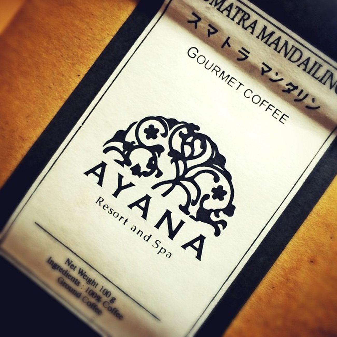 Coffee INDONESIA Bali パリ Ayana Ayanaresort インドネシア アヤナリゾート アヤナ Smatra スマトラマンダリン Mandaling バリコーヒー Balicoffee マンダリン スマトラ アヤナリゾートバリ Ayanaresortbali