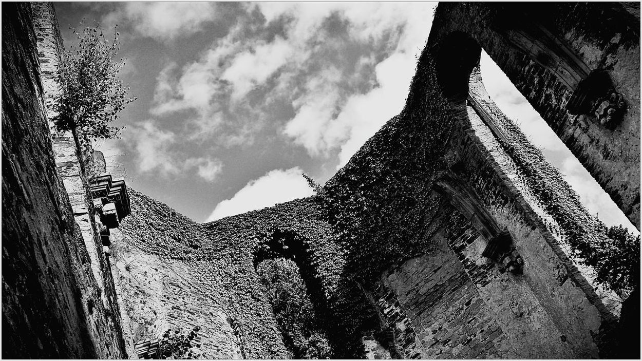 Architecture Outdoors Cloud - Sky No People Cloud Black And White Spirituality Church Architecture Old Sky History Religion Building Built Structure Black And White Photography Day Kloster Ruine Mariental Ahr