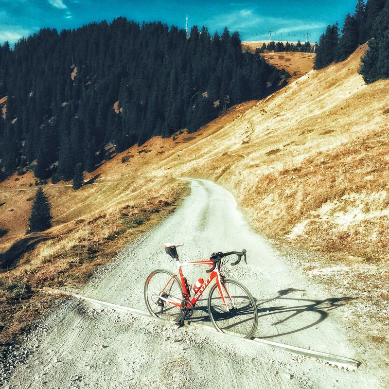 Scott bike on a gravel road above Villars-sur-Ollon, Switzerland Autumn Cycling Gravel Road Lake Geneva Region Scott Sports Square Switzerland Villars First Eyeem Photo