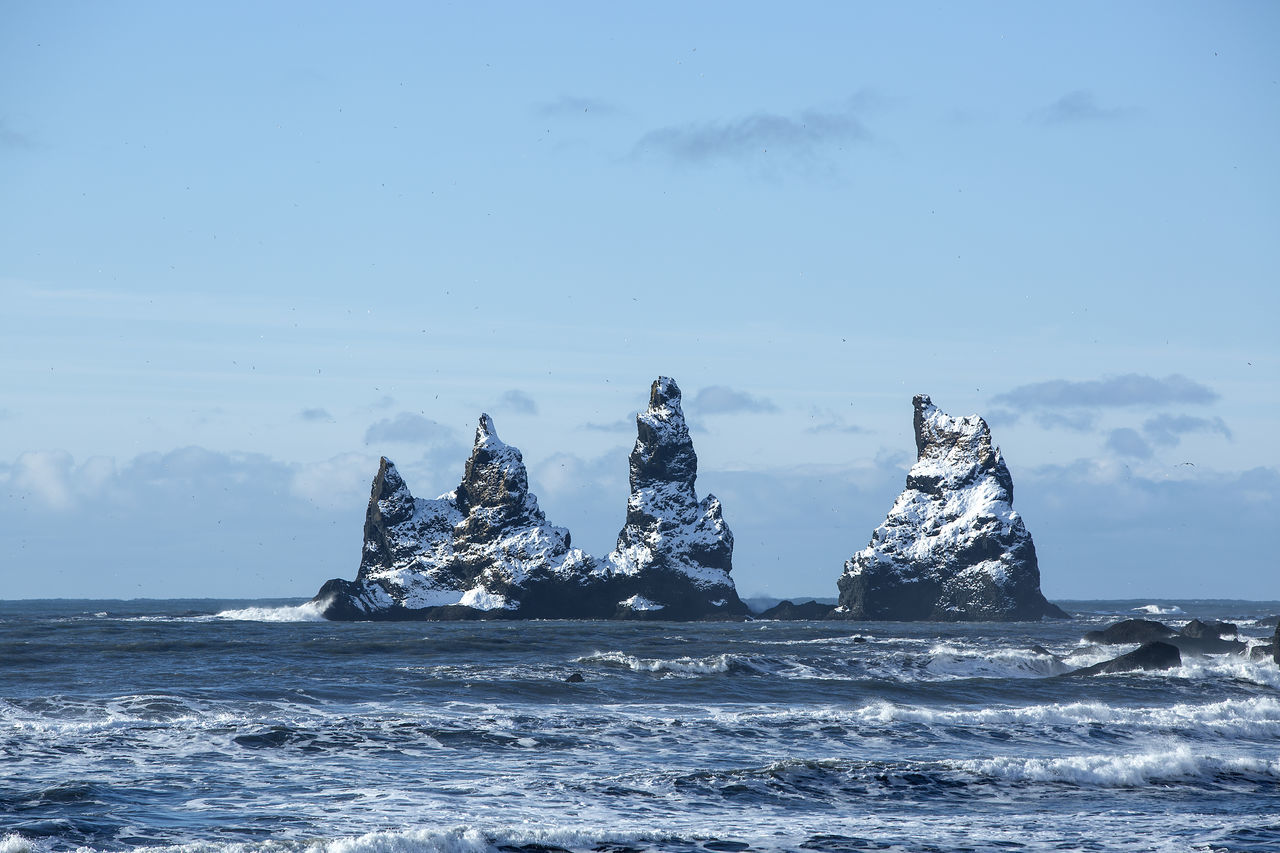 Beauty In Nature Day Horizon Over Water Iceberg Iceland Iceland Memories Iceland Trip Iceland_collection Nature No People Outdoors Rock - Object Scenics Sea Sky Tranquility Vik Vík í Mýrdal Water Waterfront Wave