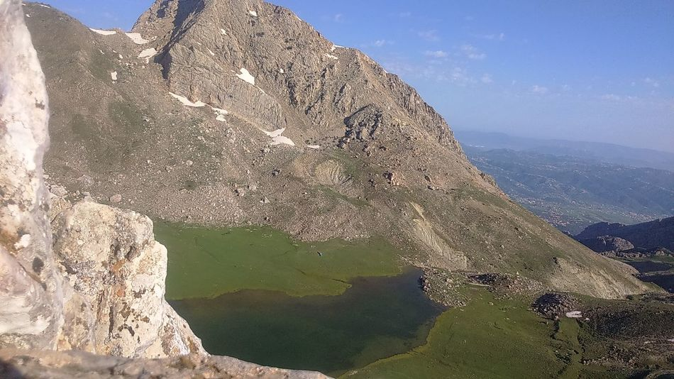 Lac Agoulmim Tikjda North Africa Freedom Miles Away Mountain Djurdjura Algeria Solitude Top Of The World Mountain Peak Outdoors Landscape No People Beauty In Nature Lake Highest Lake In Africa