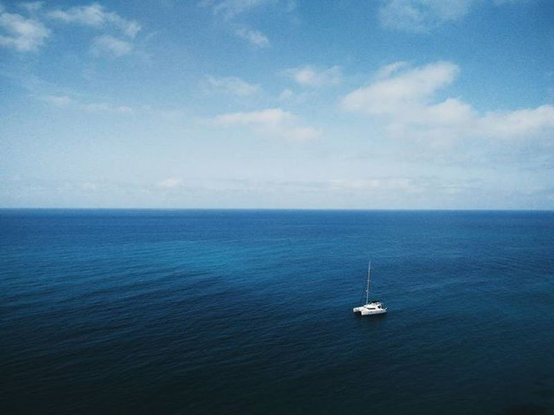 Been missing these views ⛵ Tropea Calabria Italia Italy Sea Seascape Sailing Primavera Spring Deepblue Bluesky Ocean Vscocam Oneplus Nature Landscape Landscapes_calabria Noon Depth Analog Beach Catamaran Clear Airy Horizon outdoors fromabove pure
