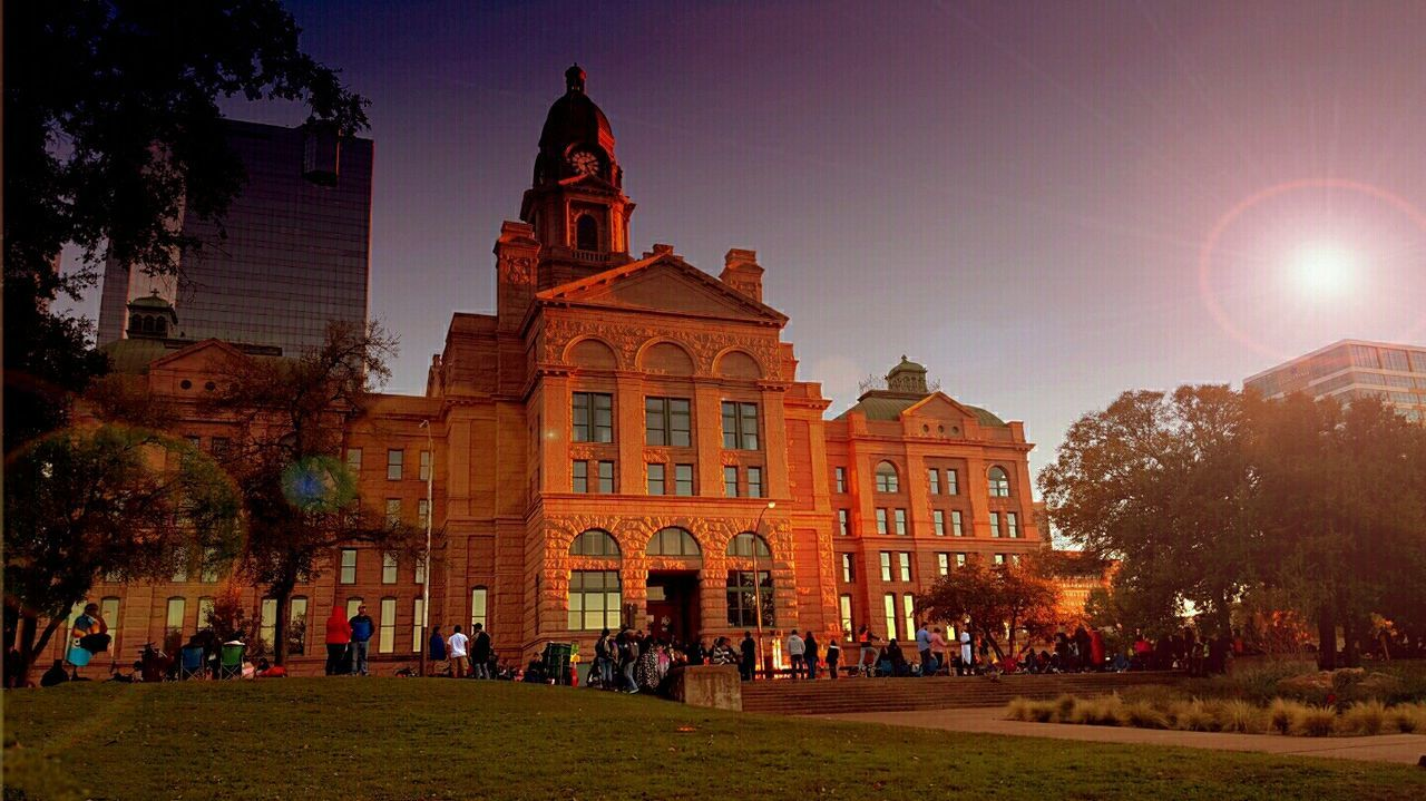 Tarrant County, TX Old Courthouse Fort Worth Texas Texas Sunset Texas Sky Old Courthouse Beautiful Evening I Love Texas!