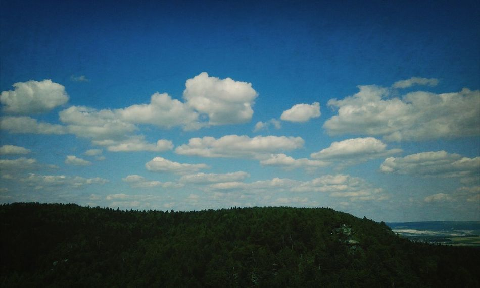 Scharfenstein view... Sky Sky And Clouds Landscape Relaxing