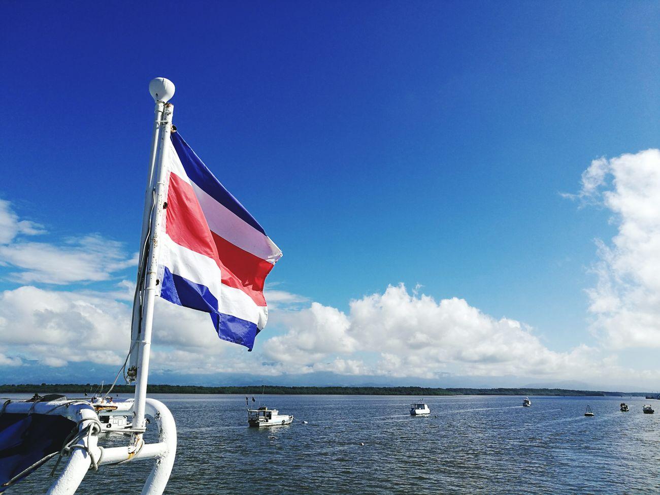 Flag Blue Sky Outdoors No People Costa Rica❤ Costa Rica Puntarenas Sea Outdoor Photography