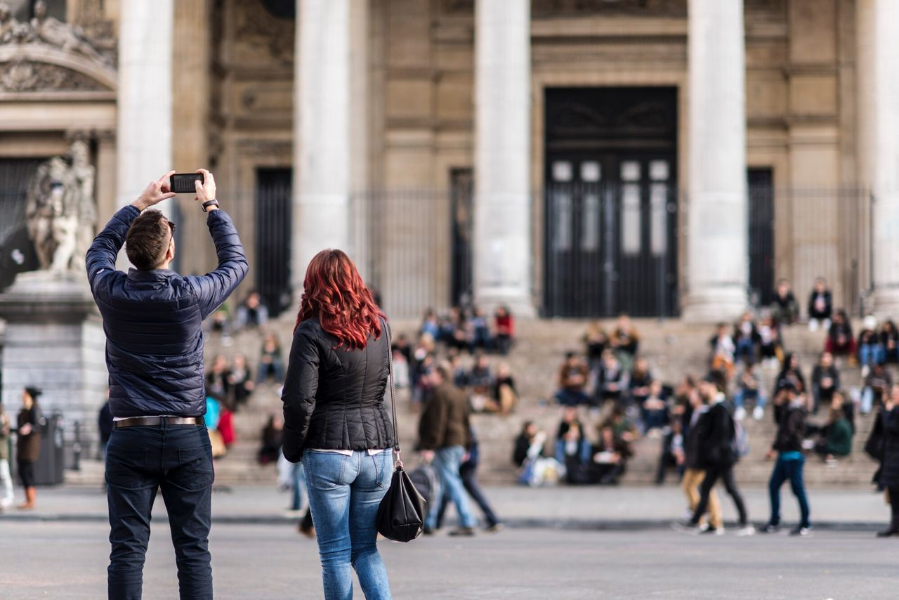 Photographing Photography Themes Travel Destinations Wireless Technology Smart Phone Photo Messaging Portable Information Device City Real People Architecture Building Exterior People Technology Day Adults Only Outdoors Adult Crowd Young Adult