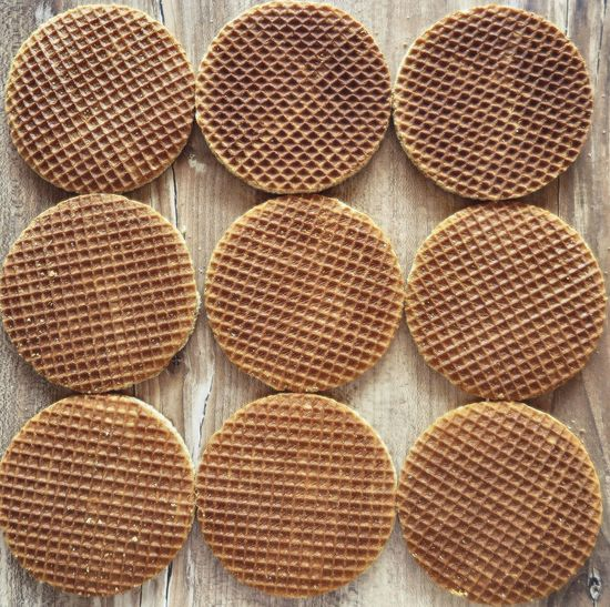 Caramel Cookies Coffee Time Day Dessert Food Food And Drink Full Frame Geometric Shape High Angle View No People Pattern Round Shapes Snack Still Life Sugar Sweet Sweet Food Sweets Unhealthy Eating Unhealthy Food Waffle Waffles Yummy Food Stories