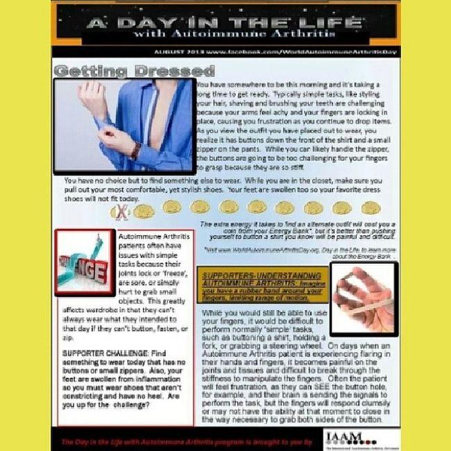 Adayinthelife Autoimmune Arthritis Awareness GettingDressed