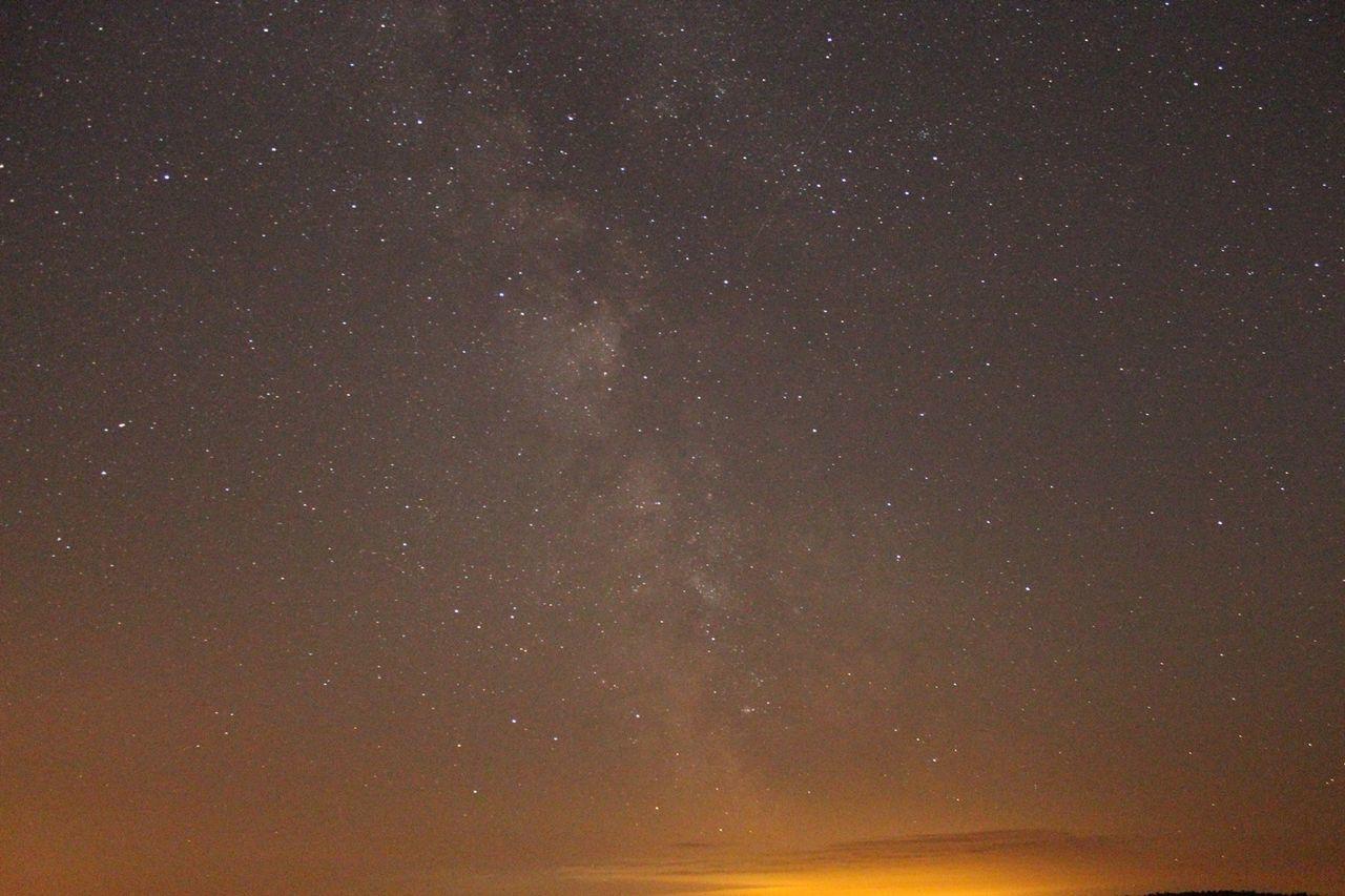 No Filter Stars Milky Way City Lights