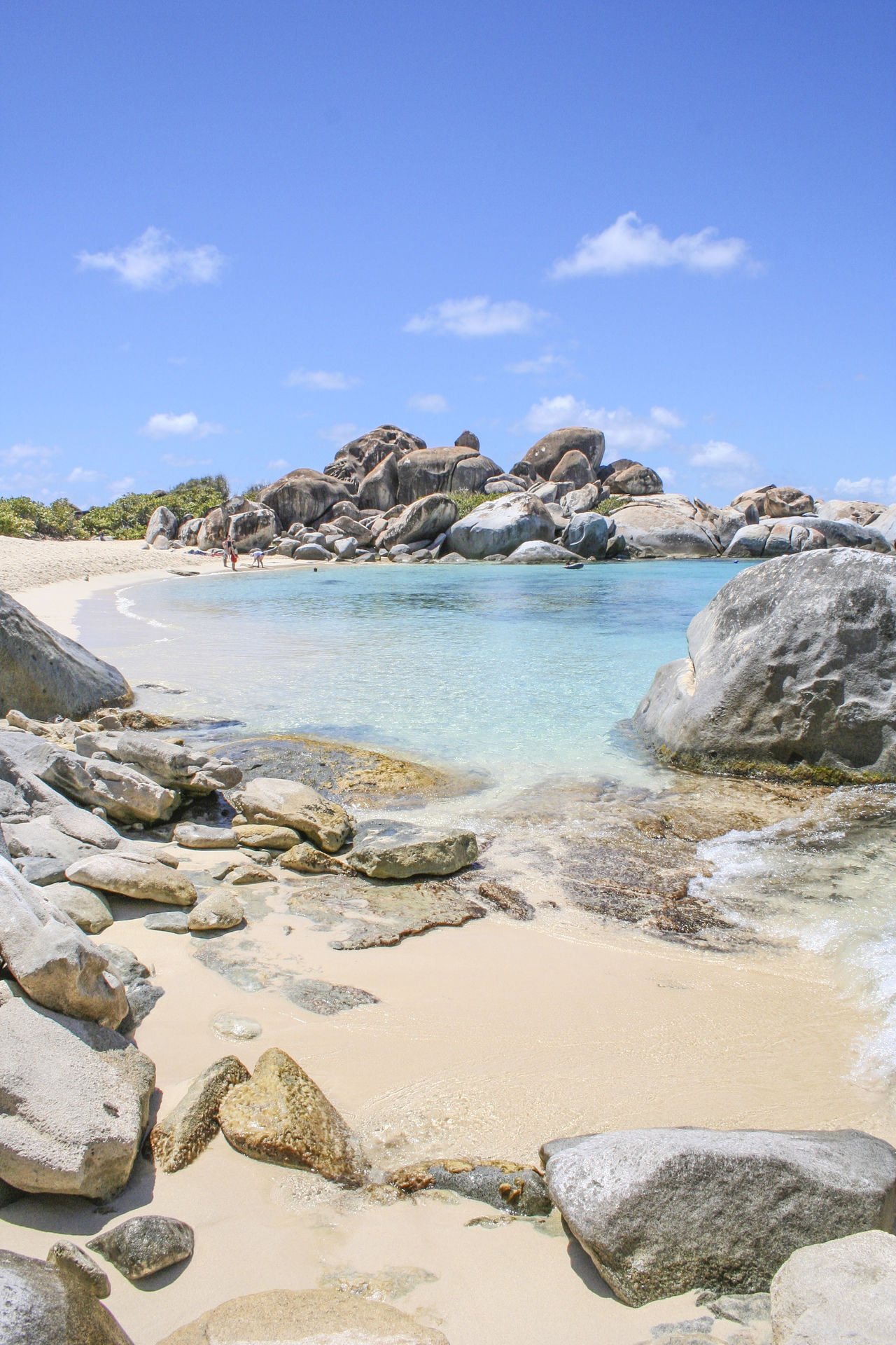 Beach Blue Sky Boulder British Virgin Islands Idyllic Rock Formation Rocks Sea The Baths Tranquil Scene Turquoise Water Blue Wave The KIOMI Collection