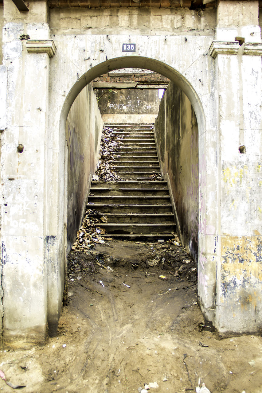 abandoned, arch, damaged, no people, day, indoors, architecture, close-up