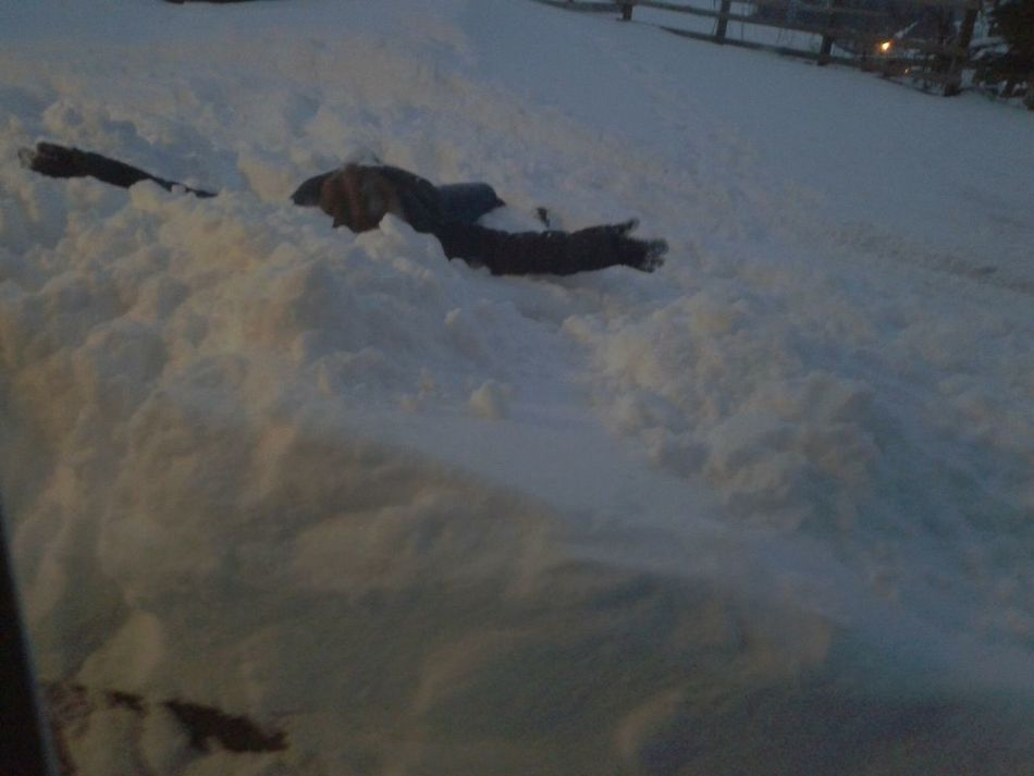 Snow Sports Slip N Slide Outdoors Nature Flat Out