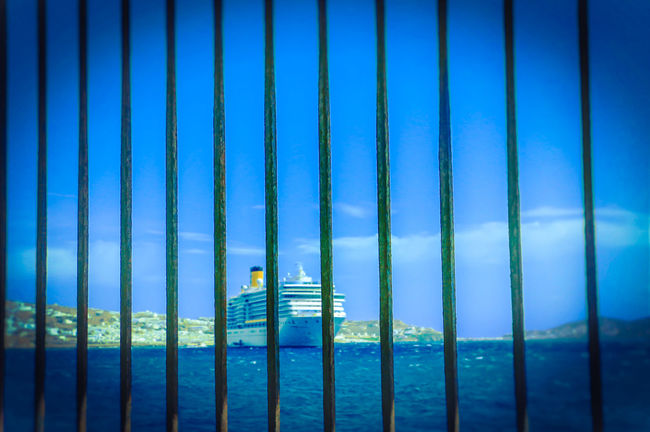 Beauty In Nature Blue Day Escape From Reality Escape Plan Gateway Locked Nature Ocean Scenics