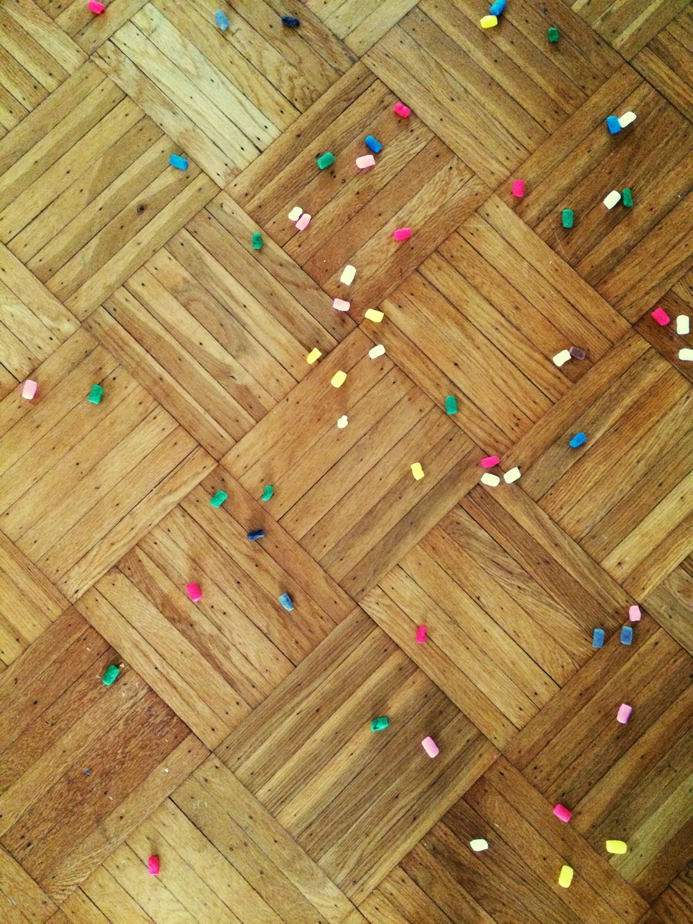 Wood Floor Confetti Fishbone Floor