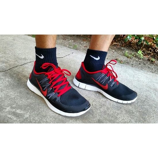 My feet are happy 😅 Nike Freeruns 2013 Gymgear timetobreakthesein notashoehead ikillmyshoes lol