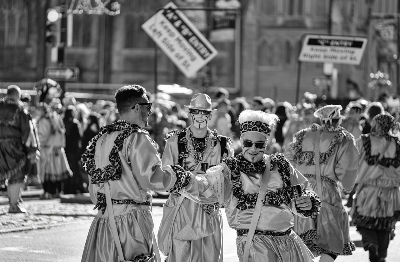 Black And White Brotherly Lob City Day Multi Colored New Years Out Outdoors Outdoors Photograpghy  People Street Parade Street Photography Sunny Three Quarter Length Throwback Winter