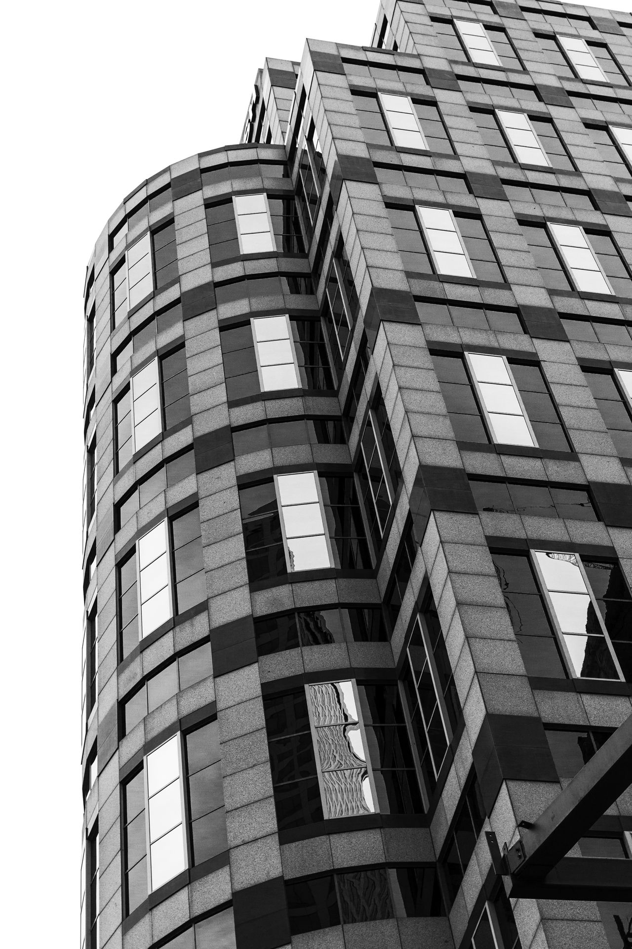 Architecture Blackandwhite Building Building Exterior Built Structure City Contrast Day Low Angle View Modern Monochrome No People Outdoors Sky Window