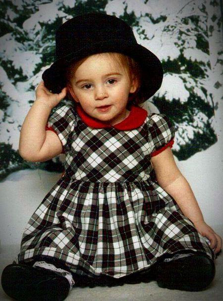 Child One Girl Only Portrait Girls Childhood Wintertime Christmas Spirit