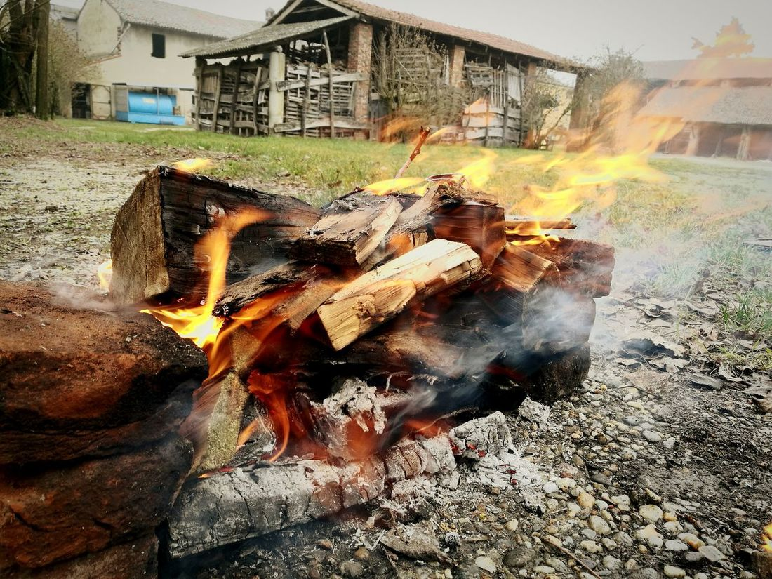 Fuoco in Burning Outdoors Day Flame No People Art Langbart Memories Hobbies Lifestyles Tradition Cascina Frascarolo Breathing Space