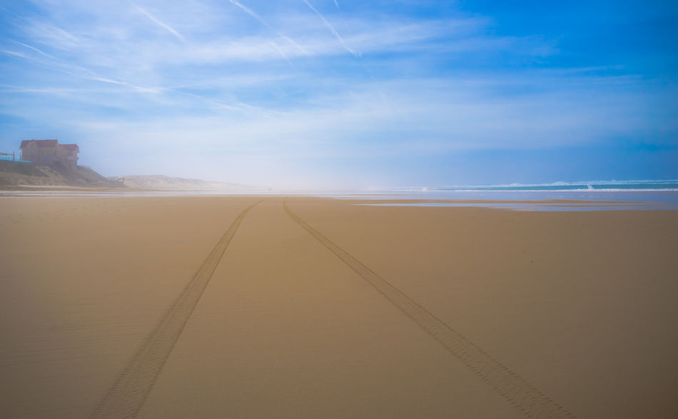 Ethereal Way Day Ethereal Fog Landscape Nature No People Outdoors Path Sand Scenics Sky