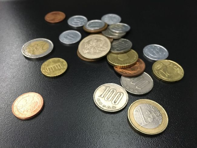 Variation Finance Large Group Of Objects Group Of Objects Investment Abundance Various No People Money Coins Currency Cash Finance Euro Yen