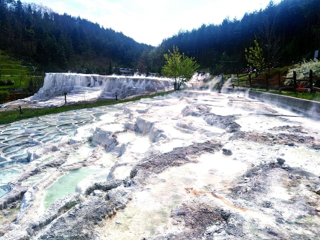 Hungary Landscape Forest Salt Bath Freshness Spring 2017 Hot Spring Beauty In Nature Fog No People Travelling