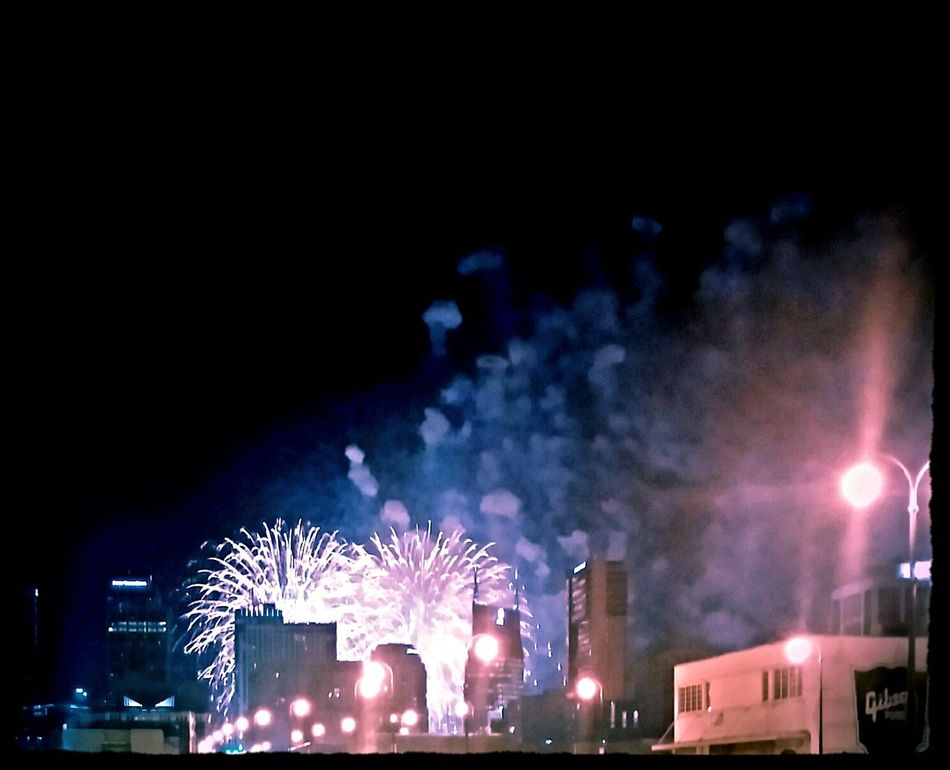 Nashville fireworks. Happy 4th Of July 2014🇺🇸 Downtownnashville