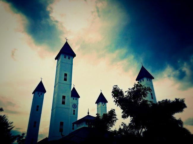 Masjid Architecture Cloud - Sky Beautiful Masyaallah God Is Great. Kota Bharu Kelantan #malaysia