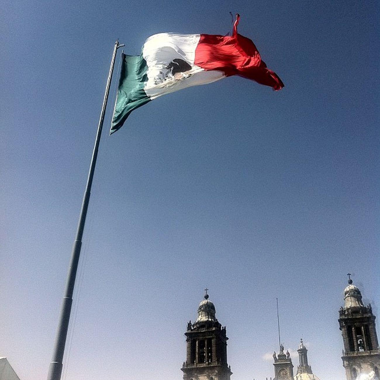 Antes de Los maestros Cnte Mexico Mex Verde blanco rojo zocalo df iglesia church
