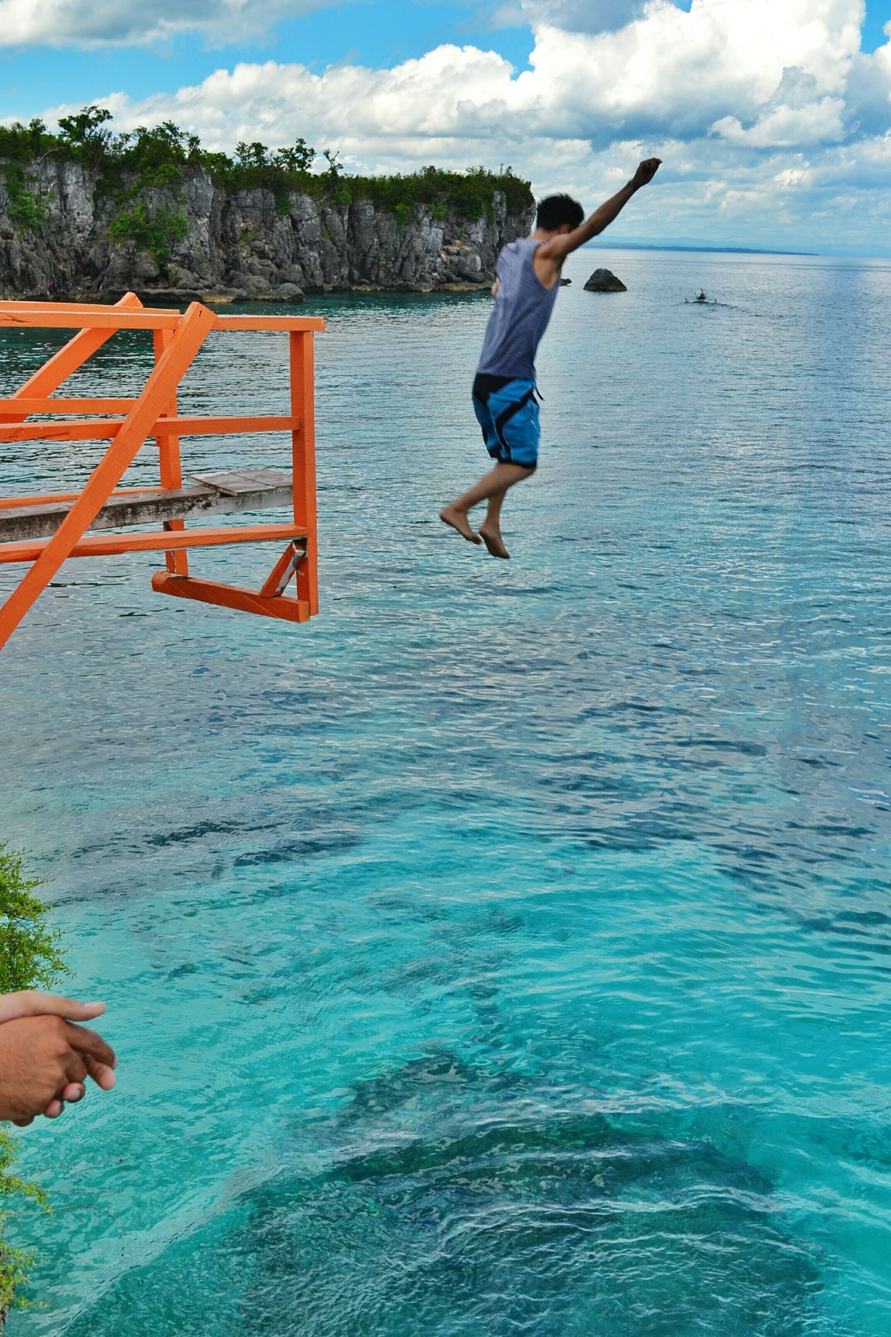 Jumped! EyeemPhilippines Choosephilippines Itsmorefuninthephilippines CliffJumping Sea Adventure Photography In Motion