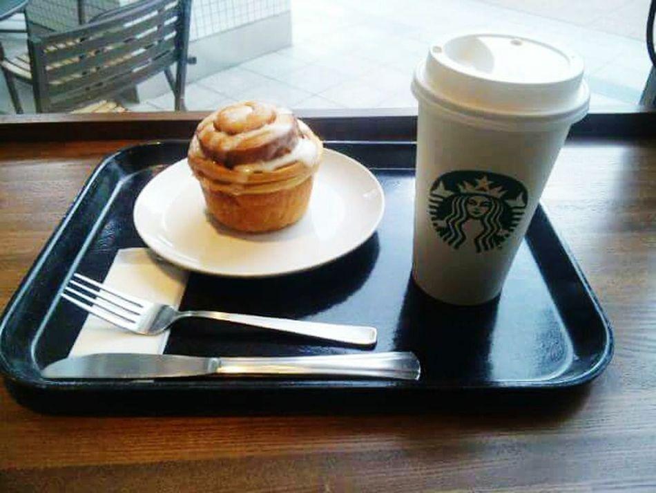 コーヒータイム Coffee - Drink Food And Drink Drink Dessert Refreshment Cafe Time Cafe Cinamonroll Starbucks Coffee Starbucks