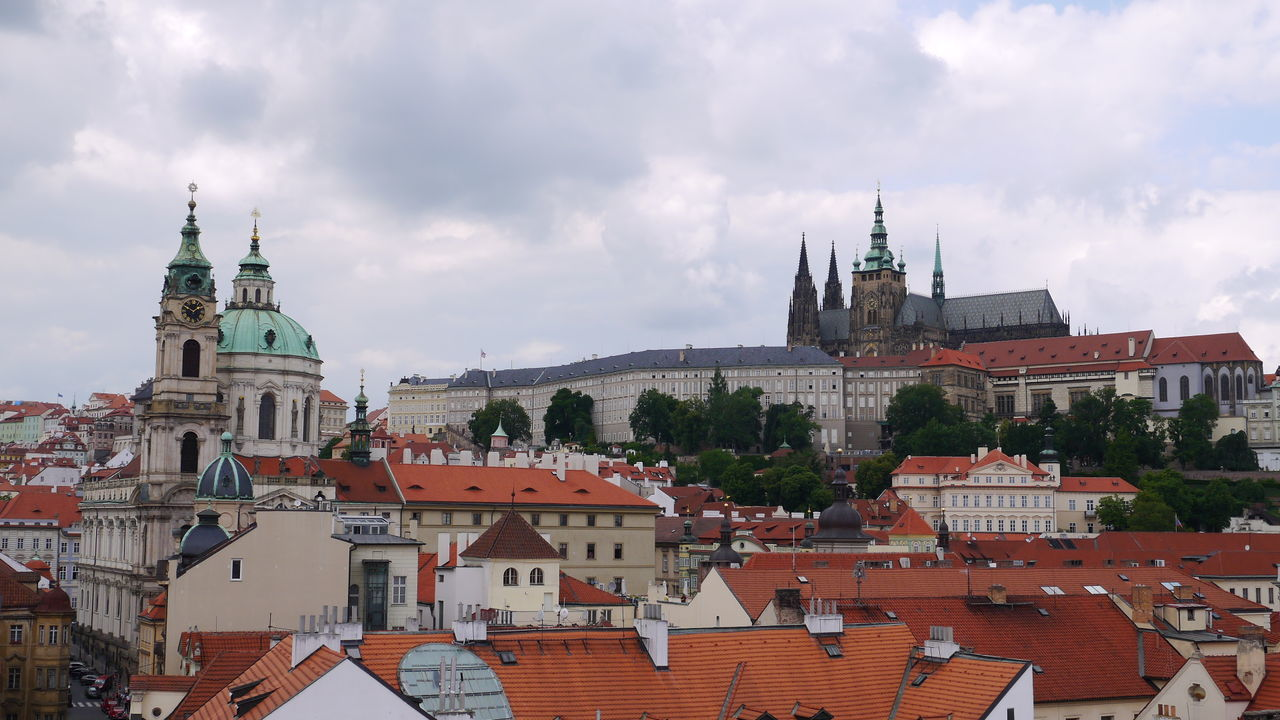 Travel Destinations Architecture City Building Exterior Cityscape Cloud - Sky Sky History No People Clock Tower Old Town Prague Czech Republic Chech Republic Roof Skyblue Castle View  St.vitus Cathedral View