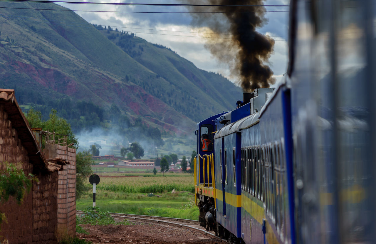 Altitude America Anden Cocktails Cusco The KIOMI Collection Express Landscapes With WhiteWall Historical Sights International Landmark La Raya Haircut Lama Music Old People Peru Peru Rail Puno Rail South Traditional Train Train Tracks On The Way