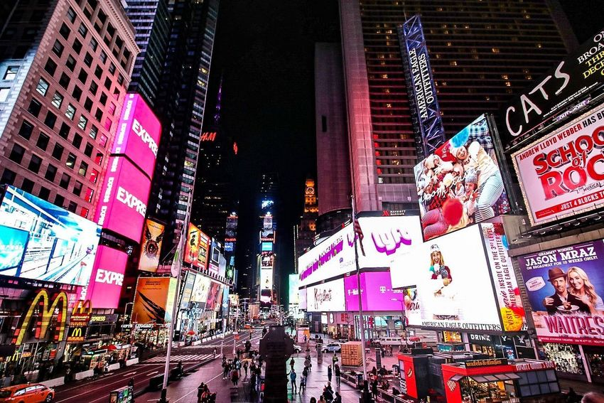 NYC Best EyeEm Shot Times Square NYC Illuminated Advertisement City Travel Destinations Nightlife Night City Life Neon Skyscraper City Street