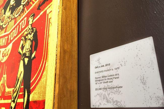 Get a Job // ArtWork Artistic Shepard Fairey America San Francisco Art Gallary Streetart