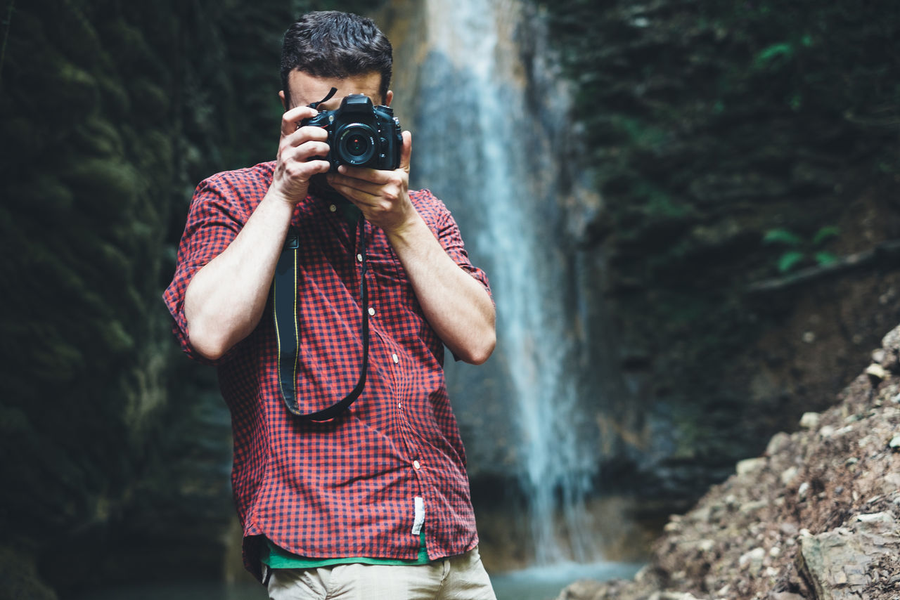 Beautiful stock photos of wasserfall,  Casual Clothing,  Day,  Digital Camera,  Flowing Water