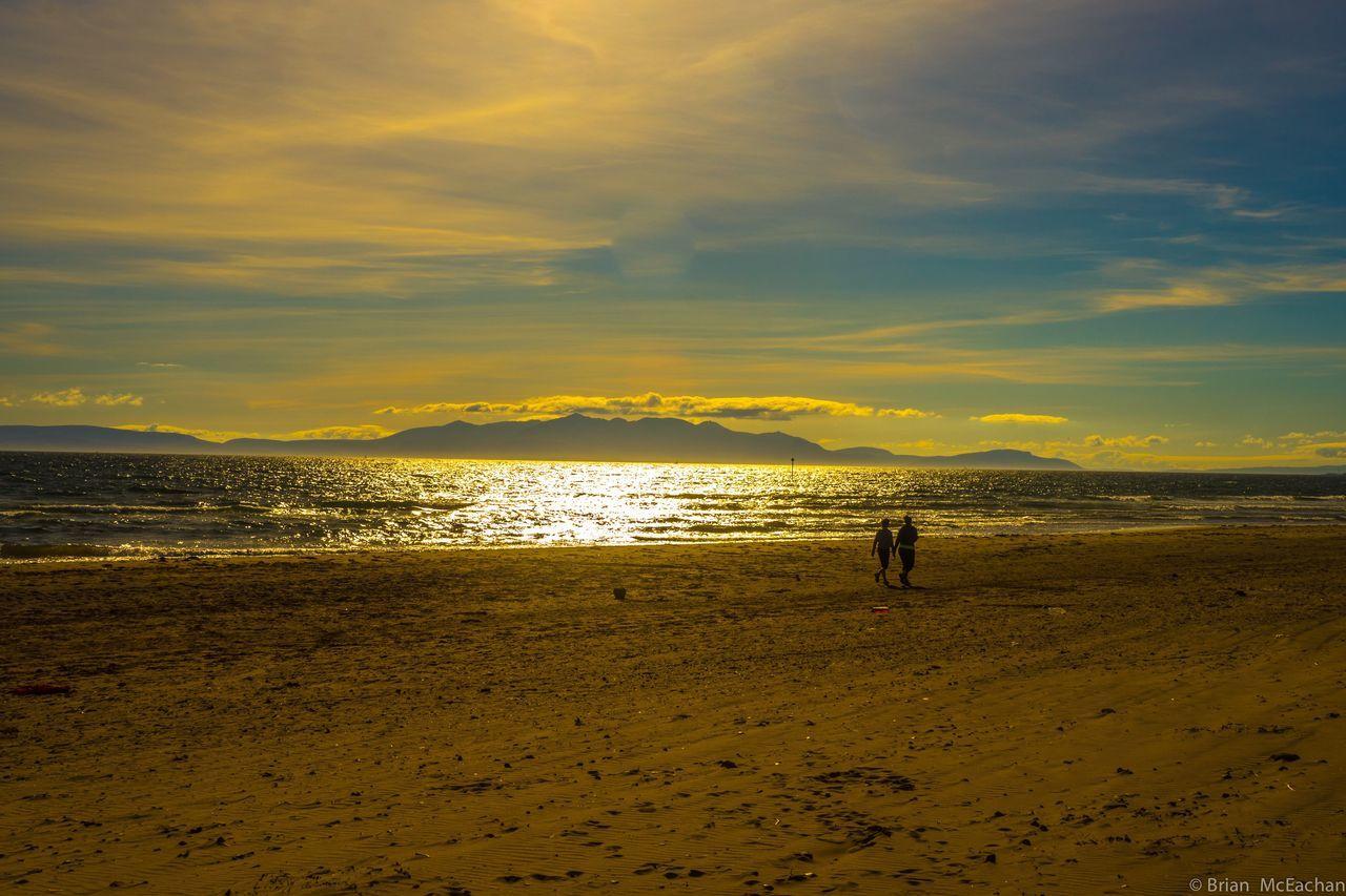 Irvine Beach Sunset #sun #clouds #skylovers #sky #nature #beautifulinnature #naturalbeauty #photography #landscape Arran  Coastline West Coast Scotland Beach Photography Sunset