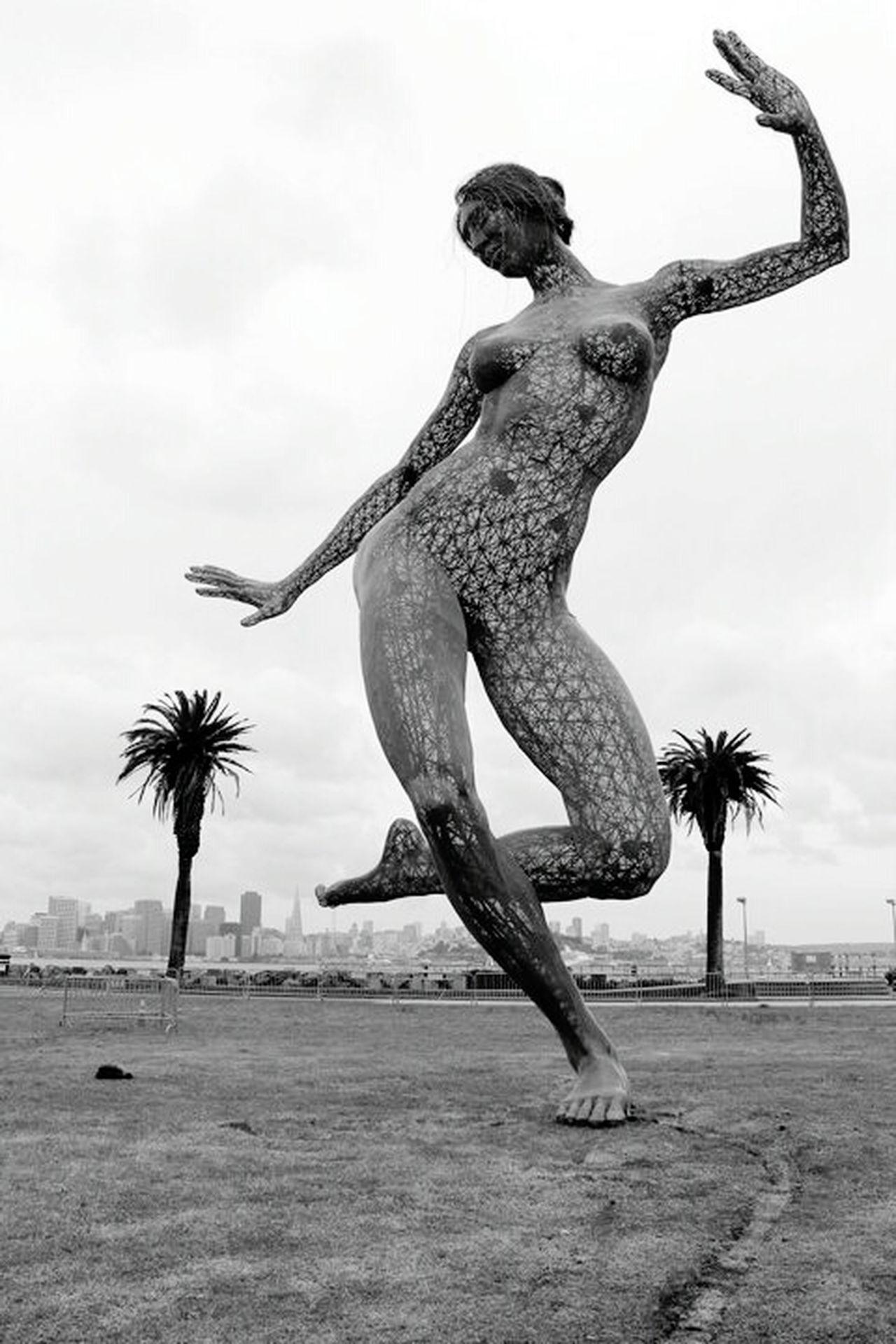 Ecstasy San Francisco Joy Beauty Beautiful Girl Seethrough Black And White Black & White Burningman California