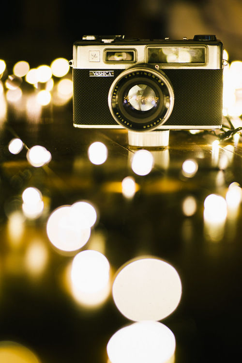 Film photography still has a magic 35mm Camera Bokeh Camera Camera - Photographic Equipment Close-up Day Fairy Lights Film Glow No People Photography Themes Technology Warm Yashica Yashinon